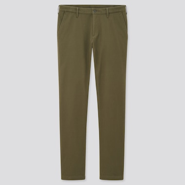 Men Windproof Slim-Fit Chino Pants, Olive, Medium
