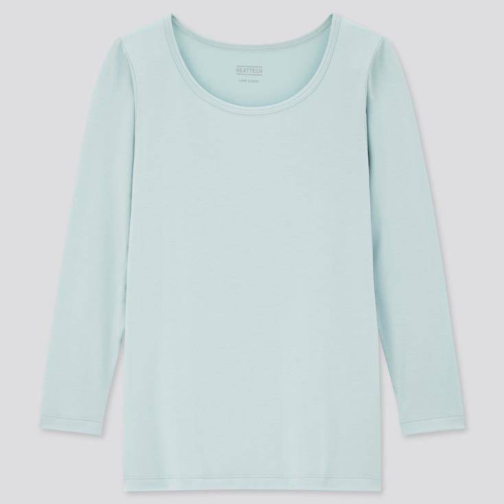 Kids Heattech Scoop-Neck T-Shirt, Green, Large