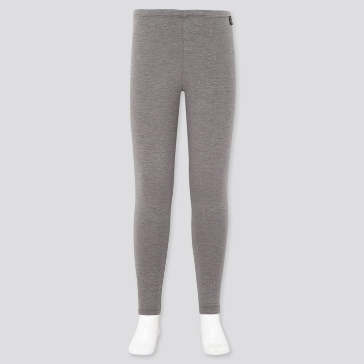Kids Heattech Extra Warm Leggings, Dark Gray, Large
