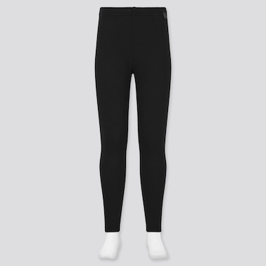 Kids Heattech Ultra Warm Leggings, Black, Medium