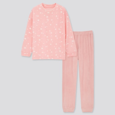 Girls Star Print Fleece Set