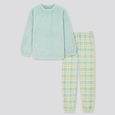 Girls Checked Fleece Set