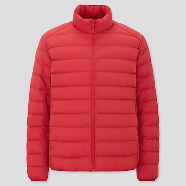 Men Ultra Light Down Jacket, Red, Medium