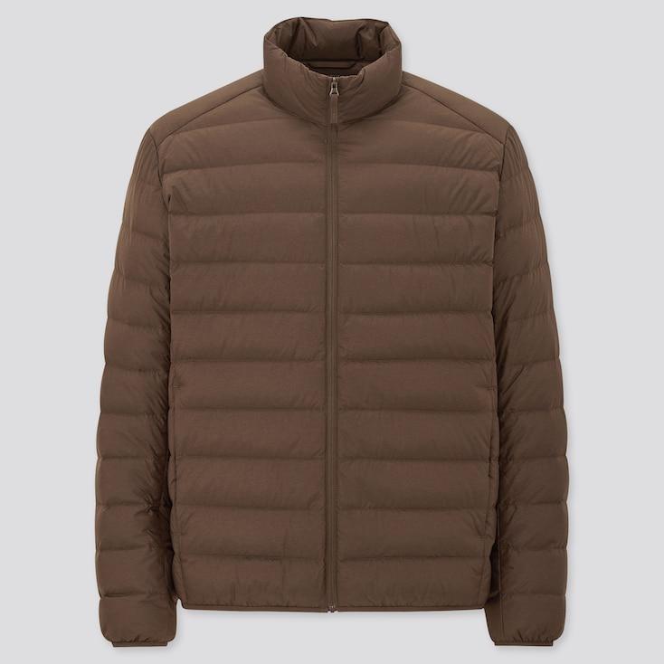Men Ultra Light Down Jacket, Dark Brown, Large