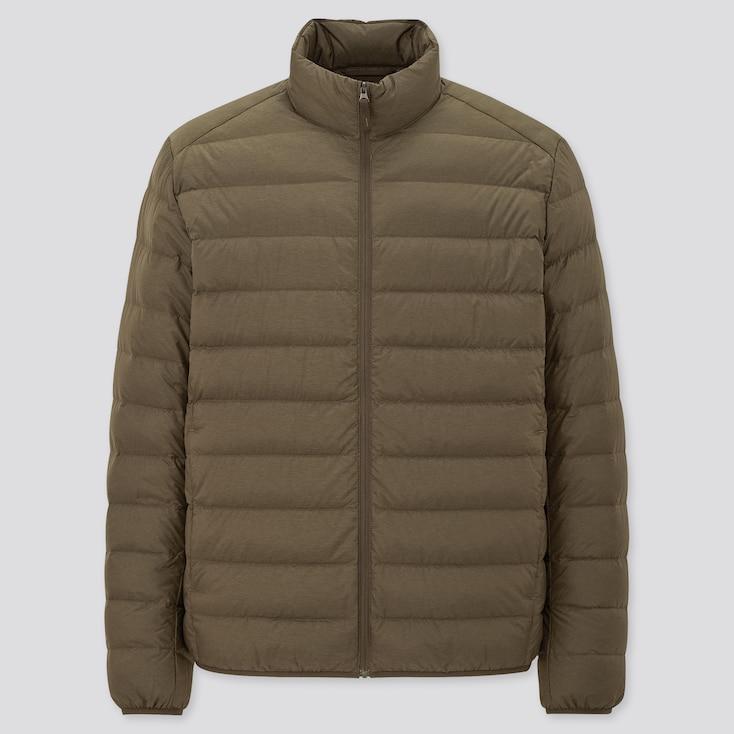 Men Ultra Light Down Jacket, Olive, Large