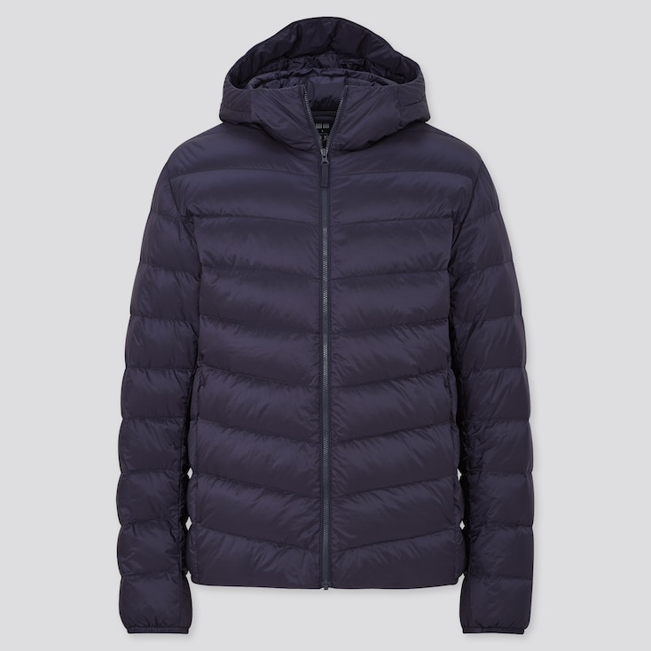 Men Ultra Light Down Parka, Navy, Large