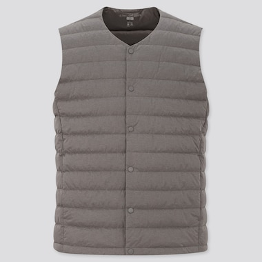 Men Ultra Light Down Compact Vest, Dark Gray, Medium