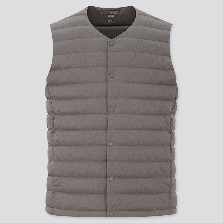 Men Ultra Light Down Compact Vest, Dark Gray, Large