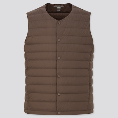 Men Ultra Light Down Compact Vest, Dark Brown, Medium