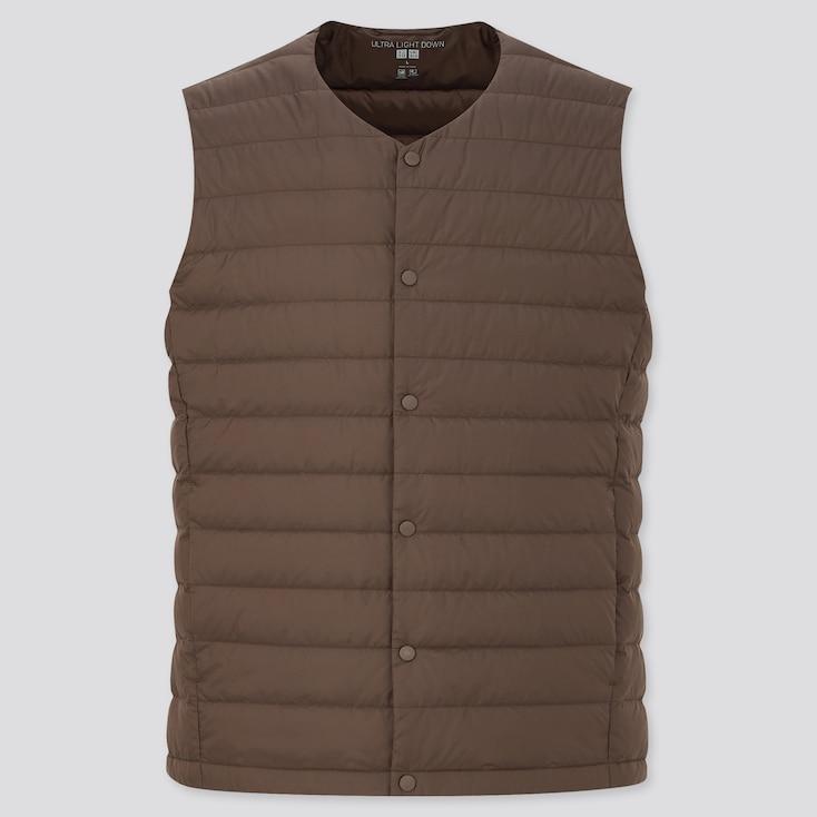 Men Ultra Light Down Compact Vest, Dark Brown, Large