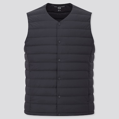 Men Ultra Light Down Compact Vest, Navy, Medium