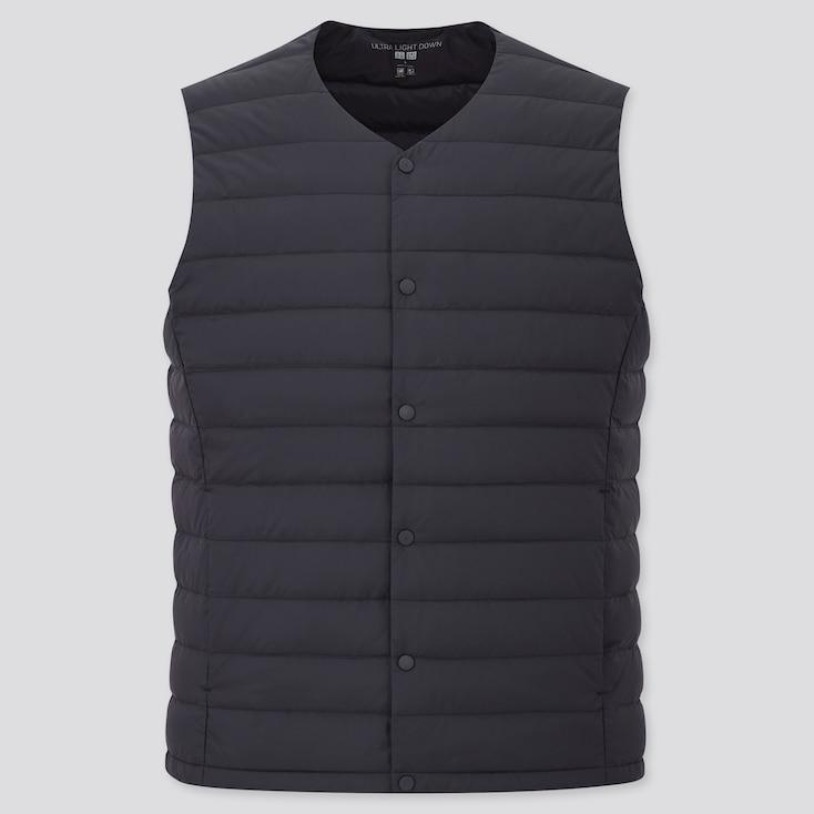 Men Ultra Light Down Compact Vest, Navy, Large