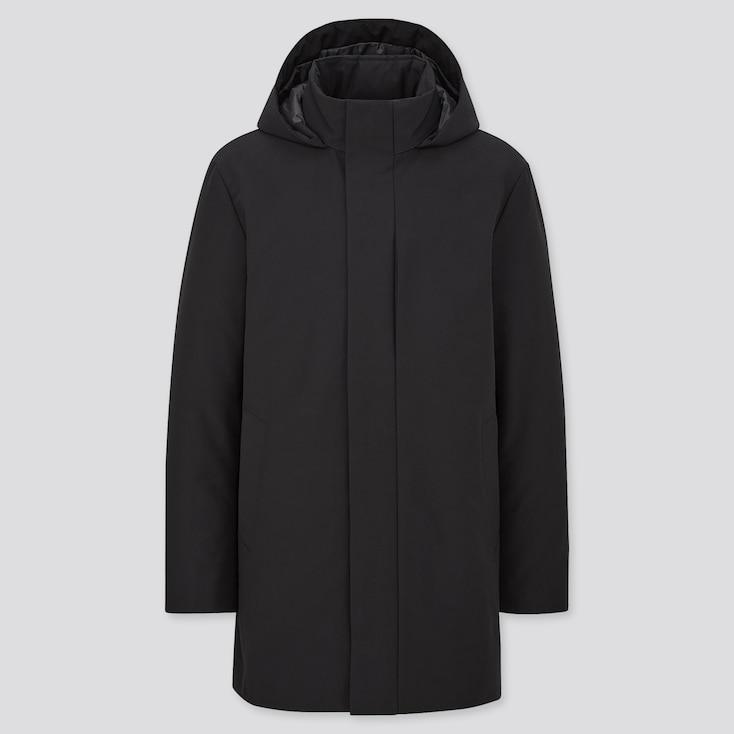 Men Hybrid Down Coat, Black, Large