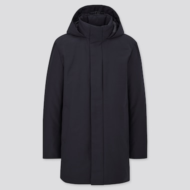 Men Hybrid Down Hooded Coat