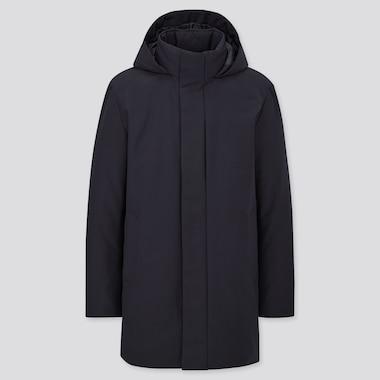 Men Hybrid Down Coat, Navy, Medium