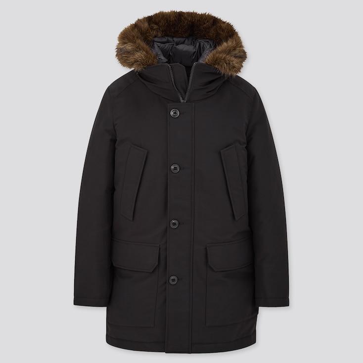 Men Ultra Warm Down Coat, Black, Large