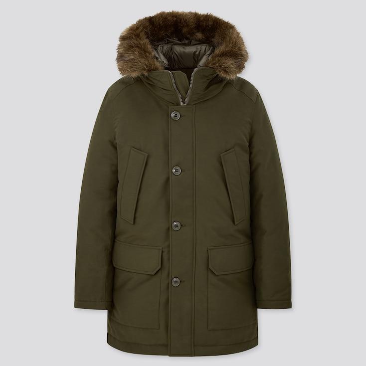 Men Ultra Warm Down Coat, Dark Green, Large