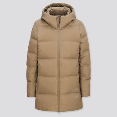 Men Seamless Down Hooded Coat