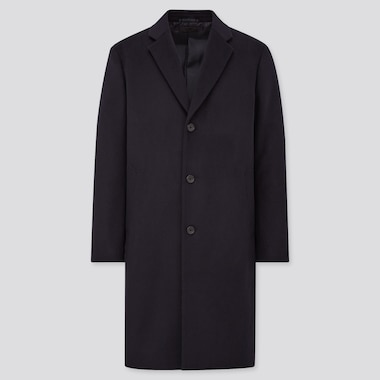 Men Wool Cashmere Blend Chesterfield Coat