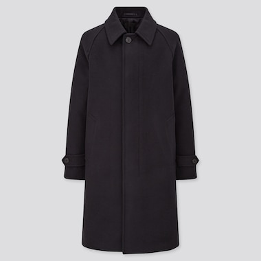 Men Balmacaan Coat, Navy, Medium