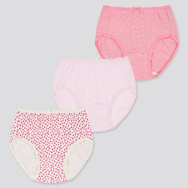 Girls Heart Printed Briefs (Three Pack)