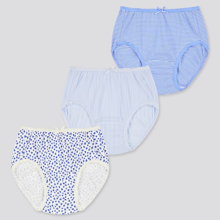 Girls Shorts (Set Of 3), Blue, Large