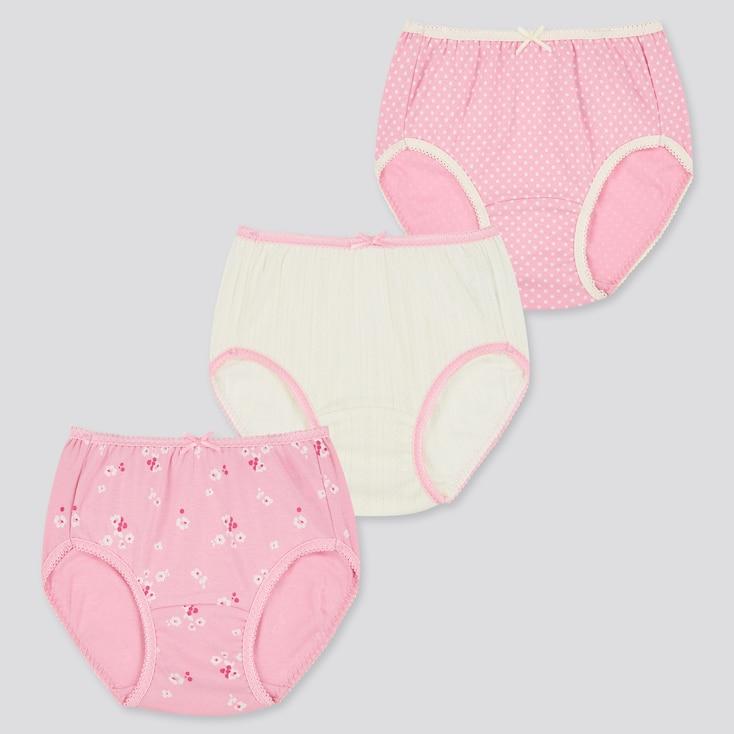 Girls Shorts (Set Of 3), Pink, Large
