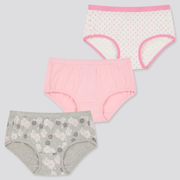 Girls Shorts (Set Of 3), Gray, Large