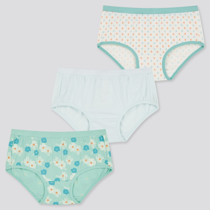 Girls Shorts (Set Of 3), Green, Large