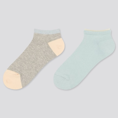 Girls Glitter Ankle Socks (Two Pairs)