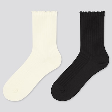 Girls Regular Socks (2 Pairs) (Online Exclusive), Off White, Medium