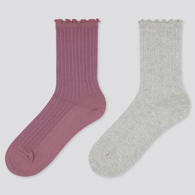 Girls Regular Socks (2 Pairs) (Online Exclusive), Purple, Medium