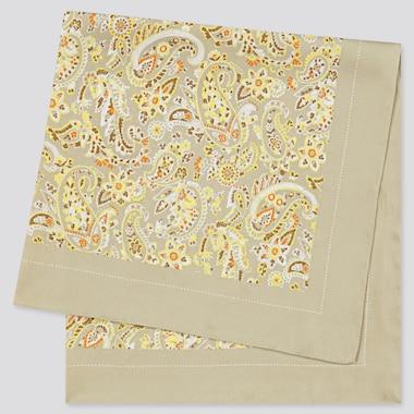 Women Printed Scarf, Beige, Medium