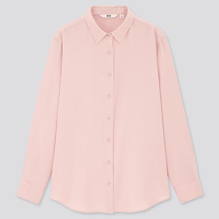 Women Viscose Classic Collar Long Sleeved Blouse