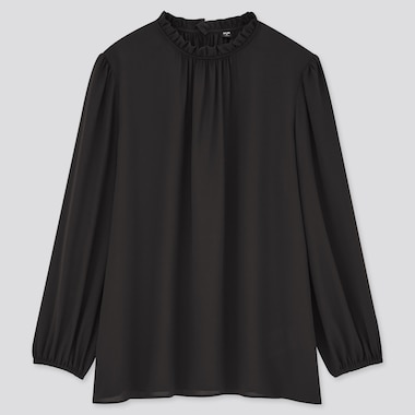 Women Georgette Frilled Long Sleeved Blouse