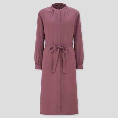 Women Rayon Long Sleeved Shirt Dress