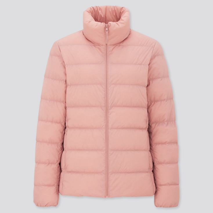 Women Ultra Light Down Jacket, Pink, Large