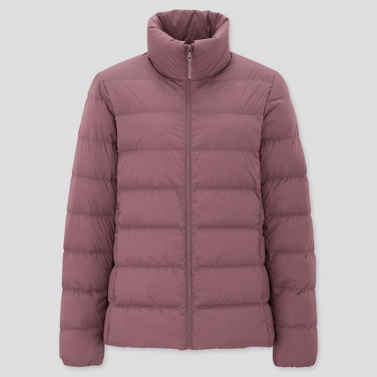Women Ultra Light Down Jacket, Purple, Large