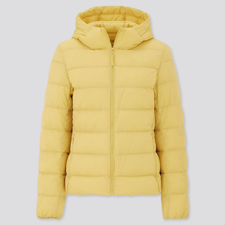 Women Ultra Light Down Parka, Yellow, Large