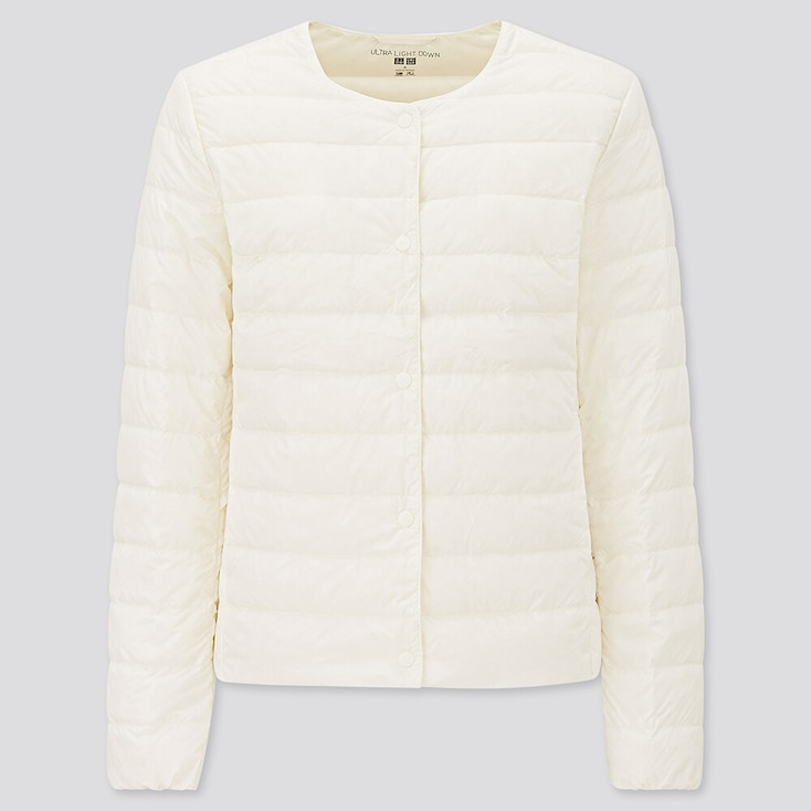 Women Ultra Light Down Compact Jacket, Off White, Large