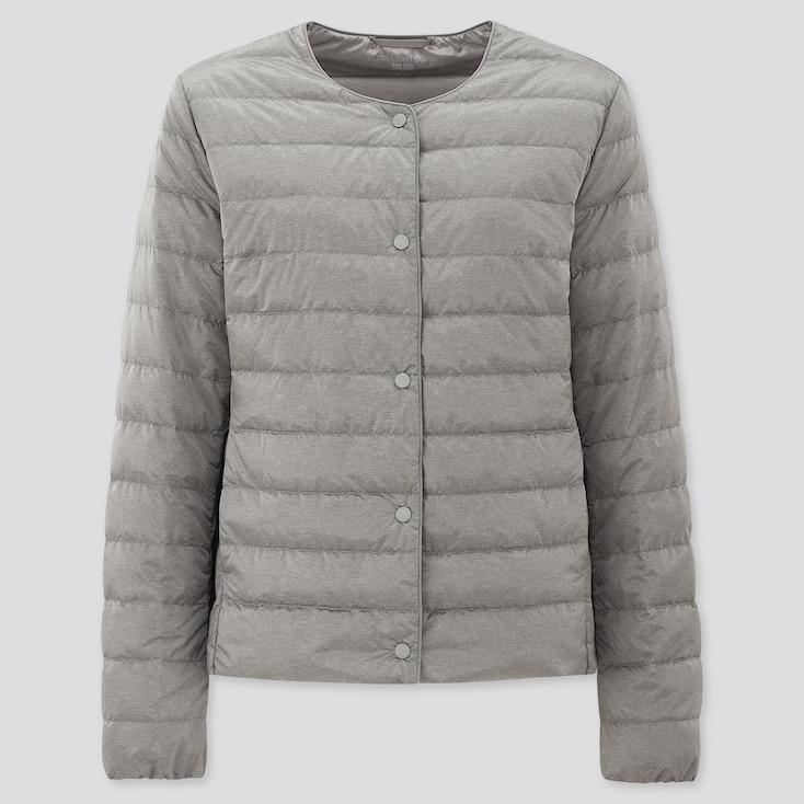 Women Ultra Light Down Compact Jacket, Gray, Large