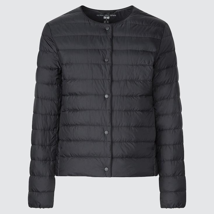 Women Ultra Light Down Compact Jacket, Black, Large