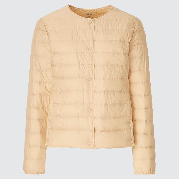 Women Ultra Light Down Compact Jacket, Beige, Large