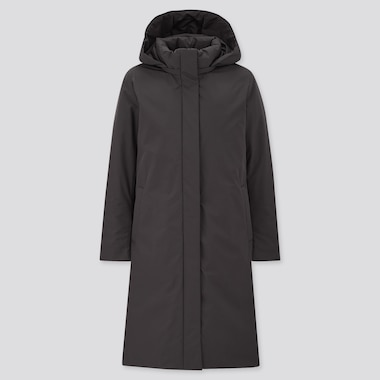 Women Hybrid Down Coat, Black, Medium