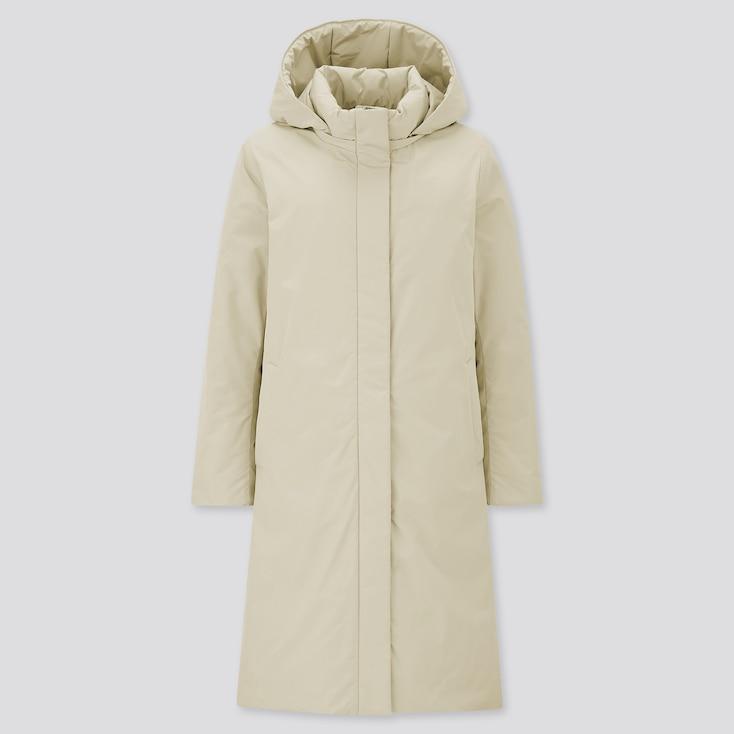 Women Hybrid Down Coat, Natural, Large