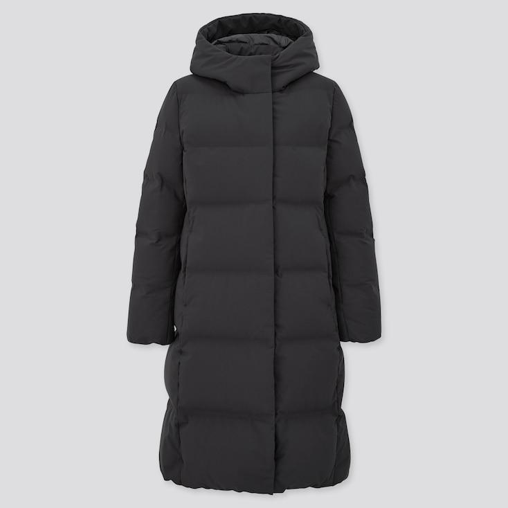 Women Seamless Down Long Coat (Online Exclusive), Black, Large