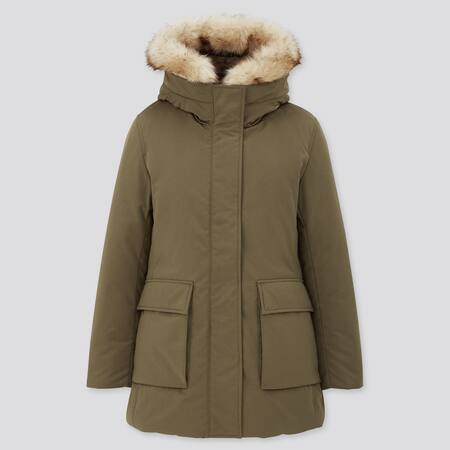 Damen Kurzer Ultra Warm Down Mantel