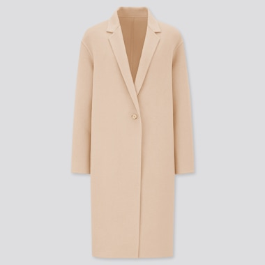 Women Double Faced Cocoon Coat
