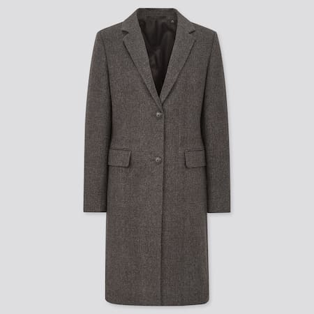 Women Cashmere Blend Chesterfield Coat
