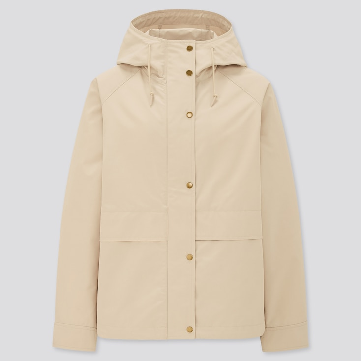 Women Oversized Parka, Natural, Large